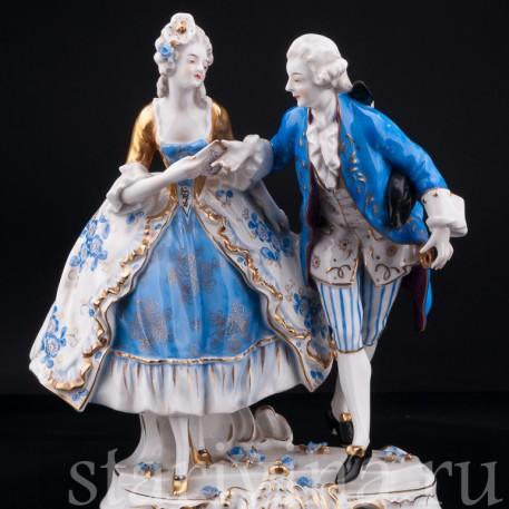Пара в голубом, Volkstedt, Германия, до 1935 г