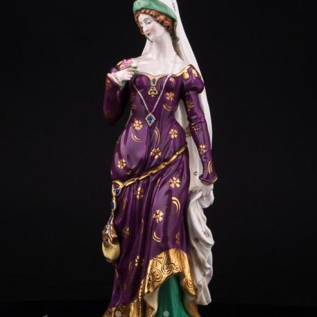 Дама в готическом костюме, Scheibe-Alsbach, Германия, пер. пол. 20 в