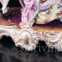 Антикварная фарфорвая статуэтка пары Пара с арфой, Volkstedt, Германия, сер. 20 в.