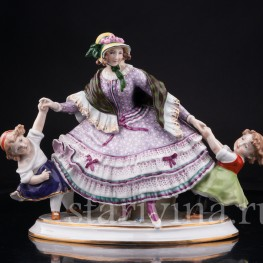 Девушка с двумя девочками , Дрезден, Германия, нач. 20 в