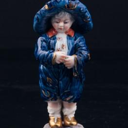 Малыш в широкополой шляпе, миниатюра , Volkstedt, Германия, вт. пол. 20 в