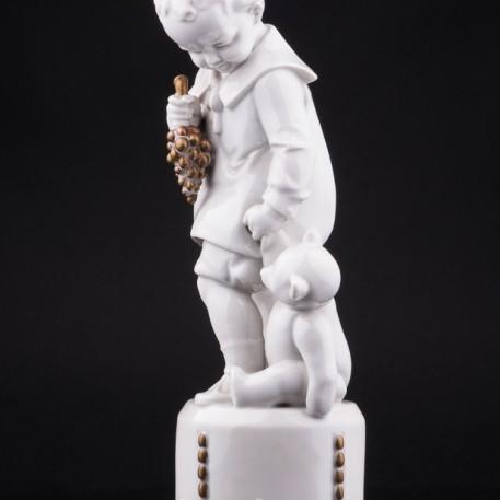 Мальчик с мишкой, Hertwig & Co, Katzhutte, Германия, 1920-30 гг