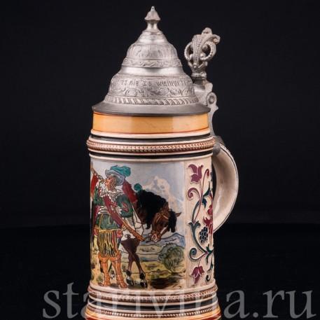 Кружка трубач из Зекингма, 1/2 л, Reinhold Merkelbach, Германия, 1880-1900 гг