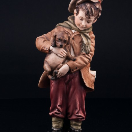 Мальчик со щенком, Bruno Merli, Италия, сер. 20 в