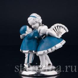 Фарфоровая статуэтка Маленький пьеро и девочка с веером, Германия,, 1920-30 гг.