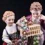 Пара с птичьей клеткой, аллегория Весны, Meissen, Германия, 19 в