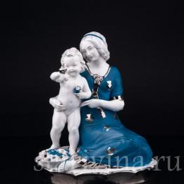 """""""Смотри, бабочка!"""", мама с малышом, Hertwig & Co, Katzhutte, Германия, 1920-30 гг"""