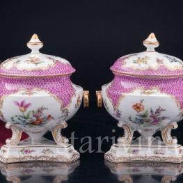 Парные вазы с крышками , Дрезден, Германия, 19 в