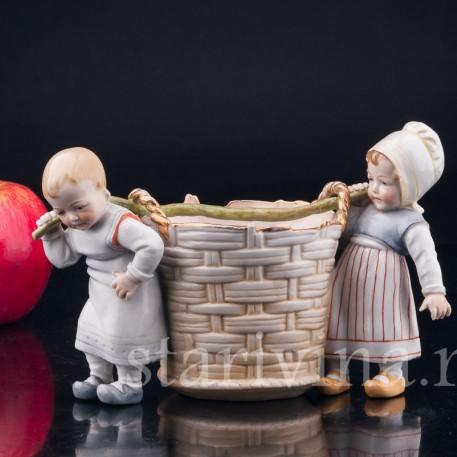 Дети с корзиной, Muller & Co, Германия, 1907-52 гг