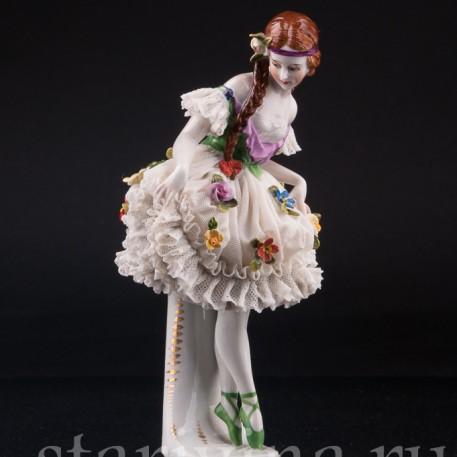 Юная балерина, кружевная, Muller & Co, Германия, нач. 20 в