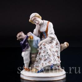 """""""Еще одно..."""", Женщина с мальчиком, Volkstedt, Германия, нач. 20 в"""