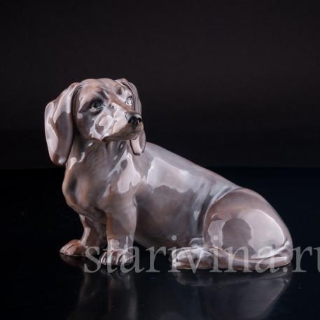 Статуэтка собаки из фарфора Такса, Rorstrand, Швеция, кон. 19 - нач. 20 вв.