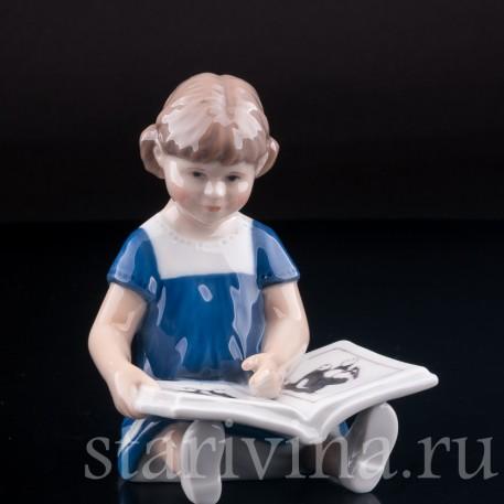 Девочка с книгой, Royal Copenhagen, Дания