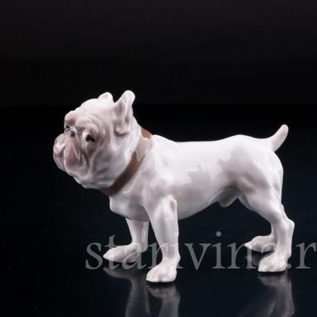 """Фигурка собаки из фарфора Английский бульдог, """"Забияка"""", Bing & Grondahl, Дания, сер. 20 в."""