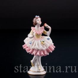 Девочка, кружевная, миниатюра, Volkstedt, Германия, вт. пол. 20 в