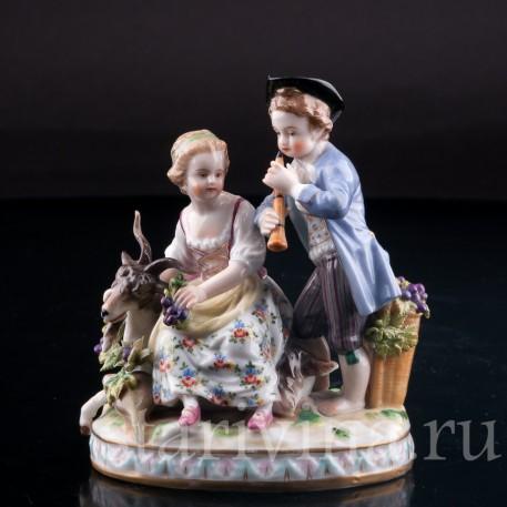 Пара с козликом, аллегория Осени, Дрезден, Германия, кон. 19 в