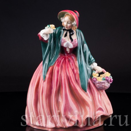 Очаровательная леди с цветами, Royal Doulton, Великобритания, вт. пол. 20 в