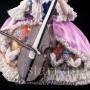 Фарфоровая статуэтка Дама с виолончелью, кружевная, Дрезден, Германия, нач. 20 в
