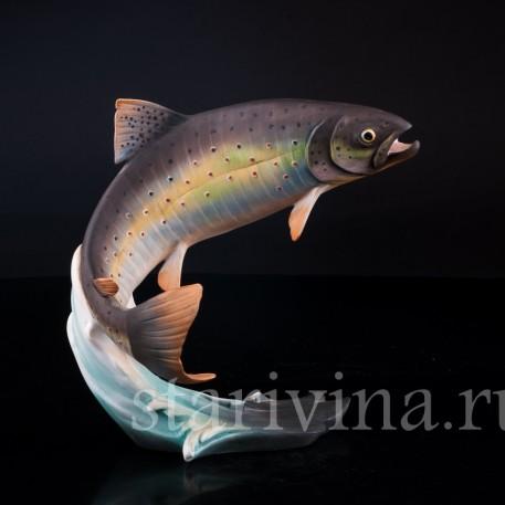 Фигурка рыбы из фарфора Форель, Alka Kaiser, Германия, до 1990 г.