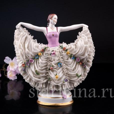 Танцующая девушка, кружевная, Muller & Co, Германия, 1907-49 гг