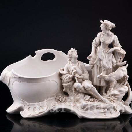 Пасторальная пара, рокальная ваза, Karl Ens, Германия, 1900 гг