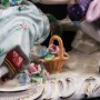 Статуэтка из фарфора Пара с птичьей клеткой, Sitzendorf, Германия, вт. пол. 20 в.
