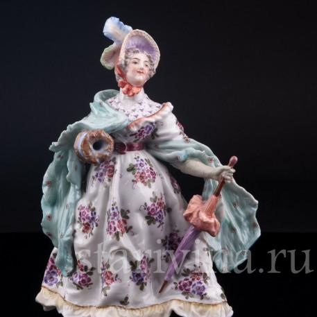 Дама с зонтом и муфтой, Dressel, Kister & Cie, Германия, 1907-20 гг
