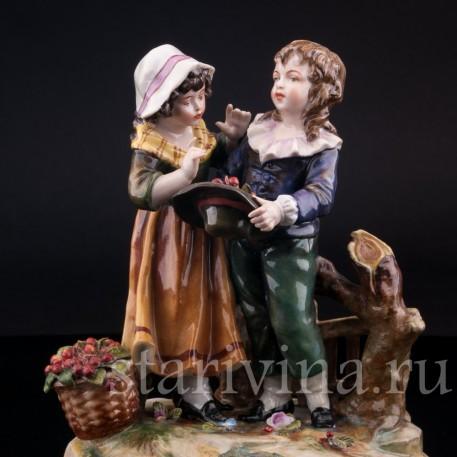 Дети с вишнями, Volkstedt, Германия, нач. 20 в