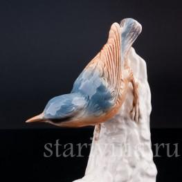 Фарфорвая статуэтка птицы Поползень, Goebel, Германия, до 1991 г.