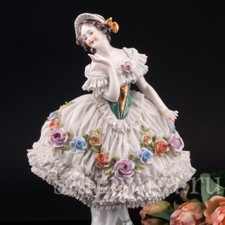 Балерина, кружевная, Volkstedt, Германия, до 1935 г