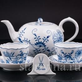 Две чайных пары и чайник , Meissen, Германия, вт.пол.20 в.