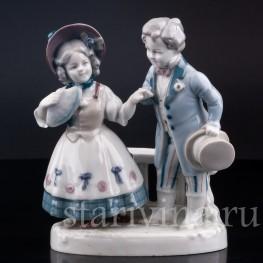 Фарфорвая статуэтка Первое свидание, Goebel, Германия, нач. 20 в.