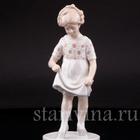 Фарфорвая статуэтка девочки Юная балерина, Bing & Grondahl, Дания, 1952-58 гг.