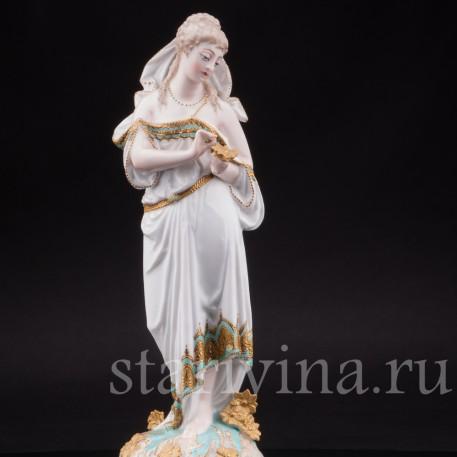 Фарфоровая статуэтка Весна, аллегория, Limoges, Франция, 1872-81 гг.