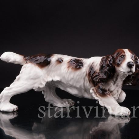 Статуэтка собаки из фарфора Спаниель, Goldscheider, Австрия, 1938-45 гг.