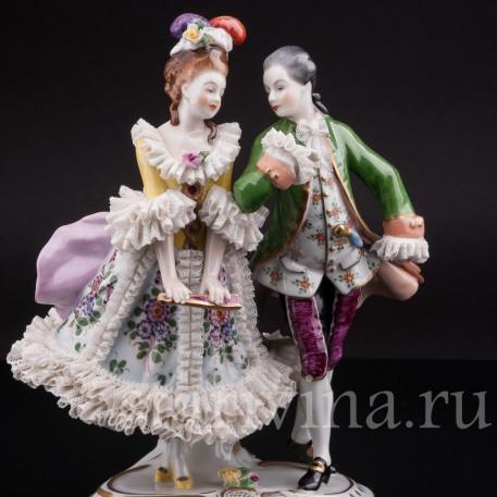 Фарфоровая статуэтка Пара на балу, Volkstedt, Германия, вт. пол. 20 в.