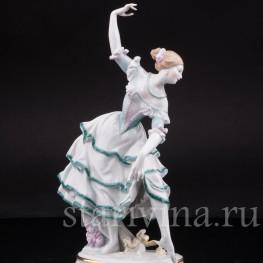 Фарфоровая статуэтка Балерина в испанском танце, Volkstedt, Германия, кон. 19 - нач. 20 вв.