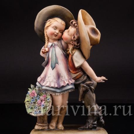 Фарфоровая статуэтка Влюбленный ковбой, Antonio Borsato, Италия, сер 20 в.