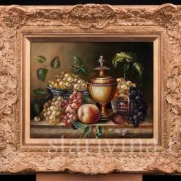 Картина маслом на фанере Натюрморт c вазой, Германия, сер. 20 в.