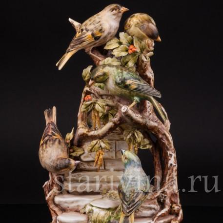 Птицы на березе, Antonio Borsato, Италия, сер. 20 века