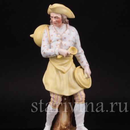Фарфоровая статуэтка мужчины Повар, Дрезден, Германия, 19 в.