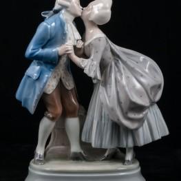 Романтическая пара в стиле рококо, Royal Copenhagen, Дания