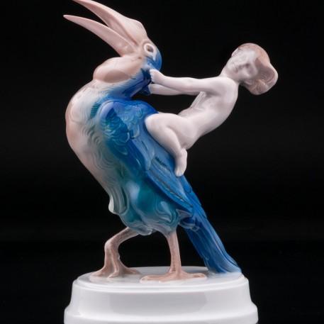 Девушка на птице, Rosenthal, Германия, 1930 гг
