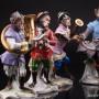 Обезьяний оркестр, 7 фигур, Volkstedt, Германия, сер. 20 в