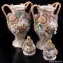 Две вазы с цветочным орнаментом и крышками, Coalport, Великобритания, нач. 20 в