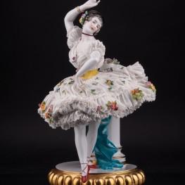 Балерина, кружевная, Volkstedt, Германия, кон. 19 в