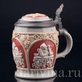 За стаканчиком вина, 1/2 л, Villeroy & Boch, Mettlach, Германия, 1902 г