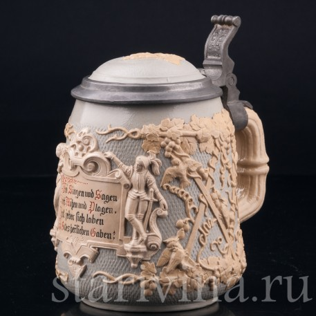 Виноградная лоза, 1/2 л, Villeroy & Boch, Mettlach, Германия, 1892 г