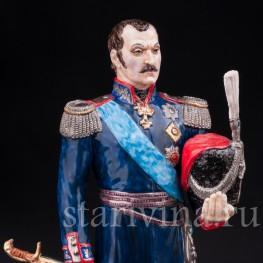 Коллекционная фарфоровая статуэтка Атаман М. И. Платов, Россия,, совр.