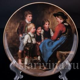 Декоративная фарфоровая тарелка Рассказчица, Lilien Porzellan, Австрия,  год.